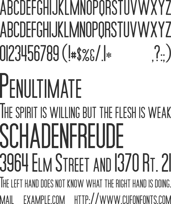 Movie Poster font preview