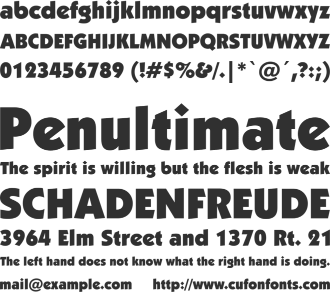 Strippenzieher font preview