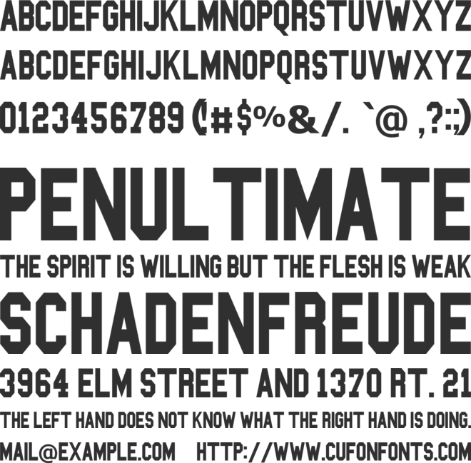 Blockbusted font preview