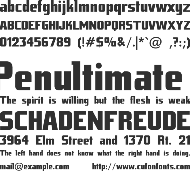 Tank Junior font preview