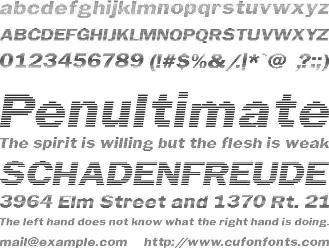 Linear Beam font preview