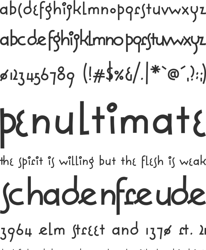 Solea font preview