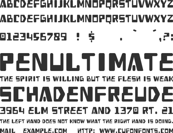Heavy Data font preview