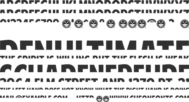 American Purpose STRIPE 1 font preview