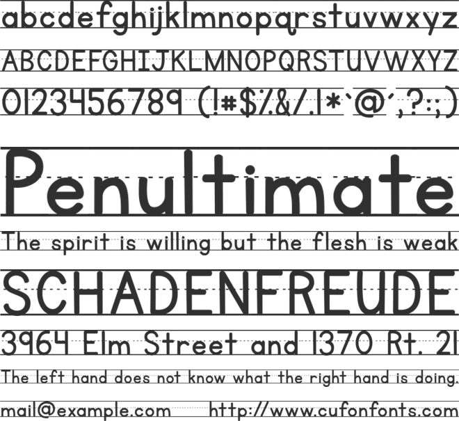 KG Primary Penmanship Lined font preview