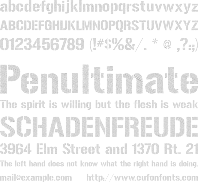 Urban Sketch font preview
