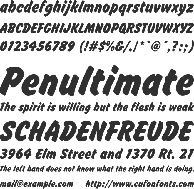 Brush Hand New font preview
