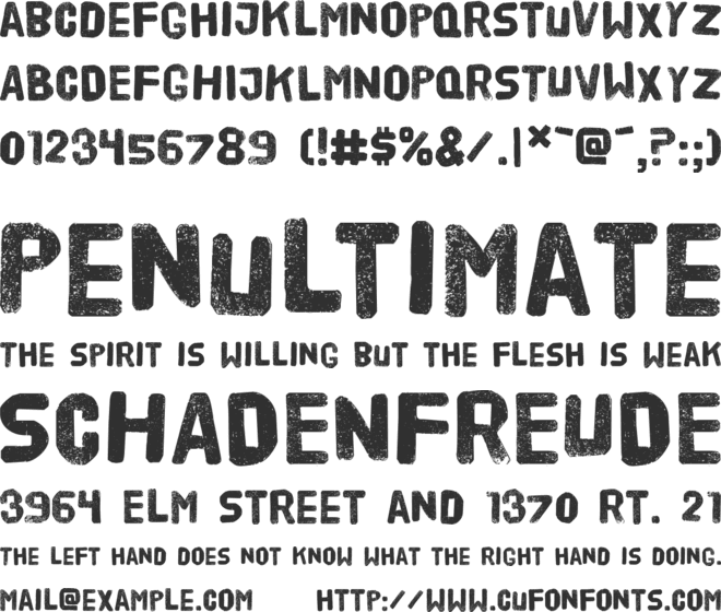HVD Poster font preview