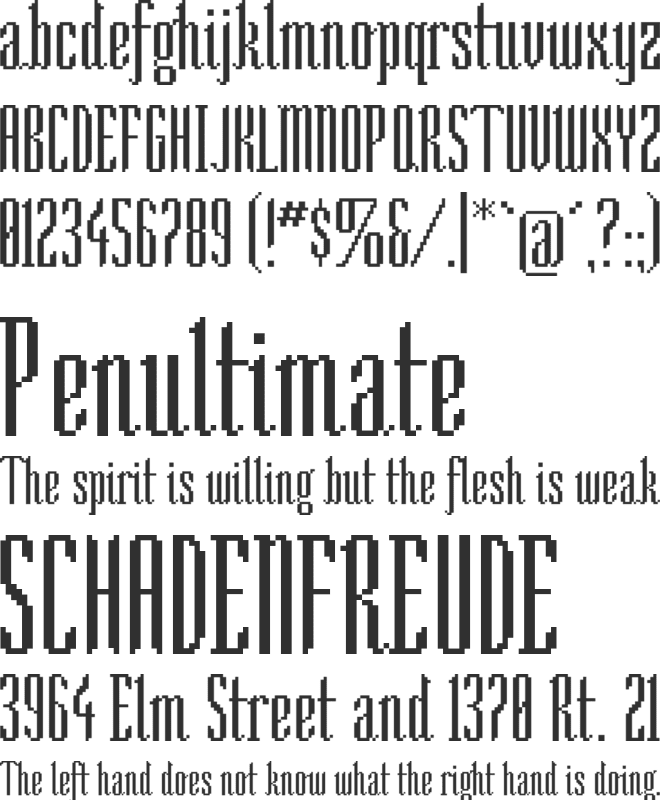 So Narrow font preview