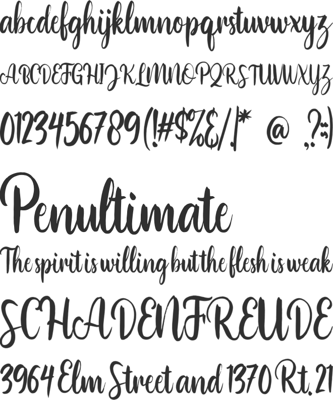 Bonillo font preview