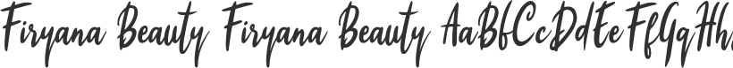 Firyana Beauty font download