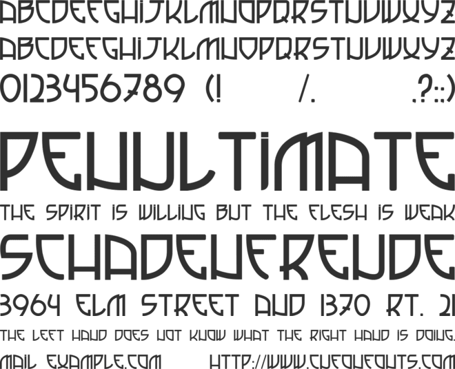 Italian Football font preview