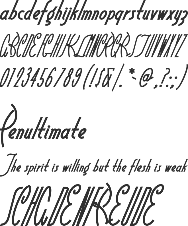 Little Rickey NF font preview