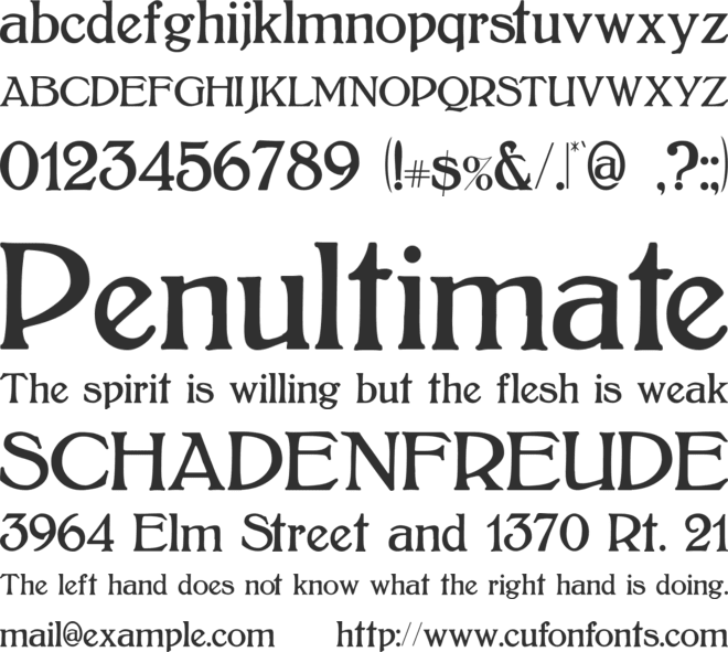 Bolton font preview