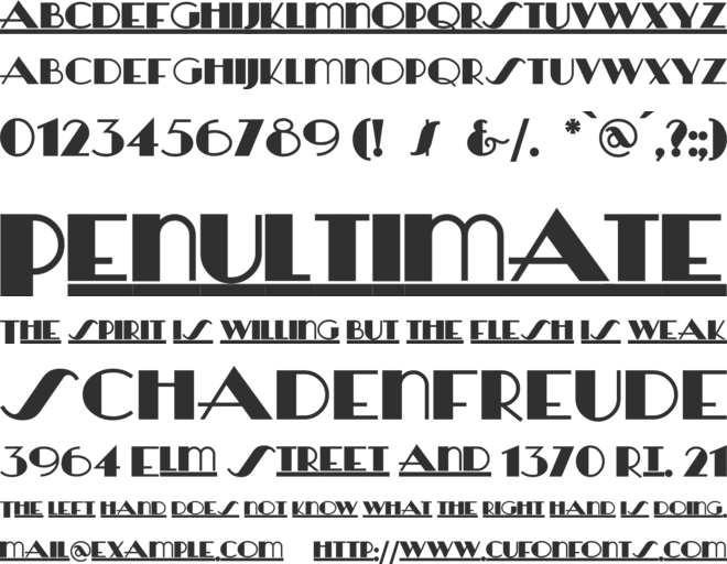 HeraldSquare font preview