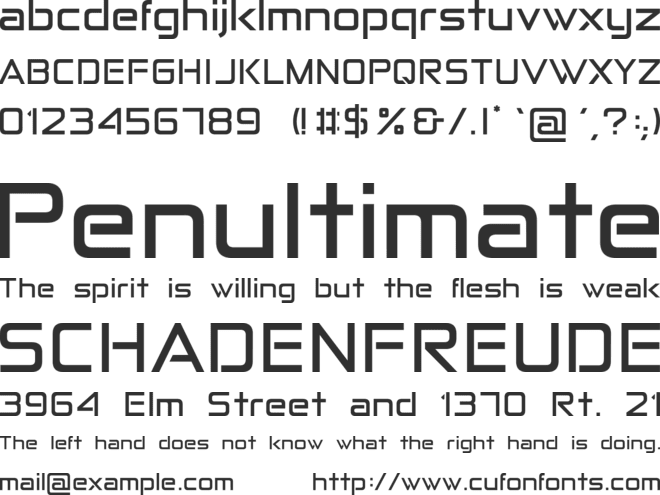 Anita  Semi-square font preview