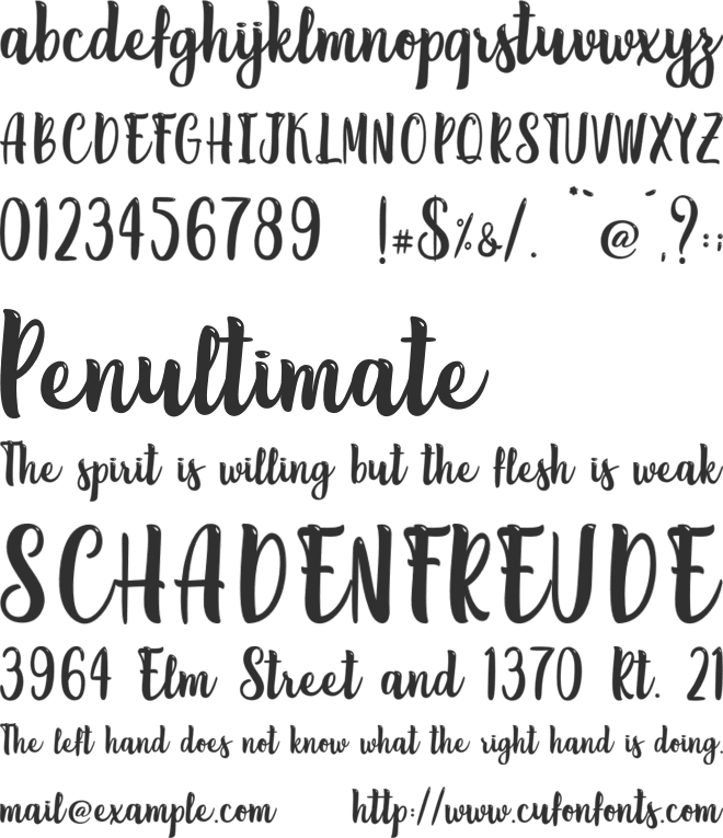 Lemon Brush - Personal Use font preview