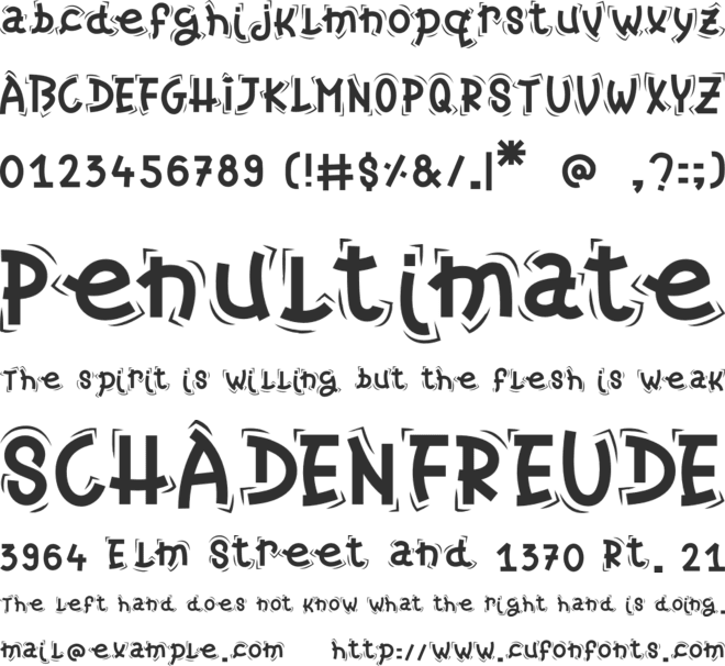 Christmas Candy font preview