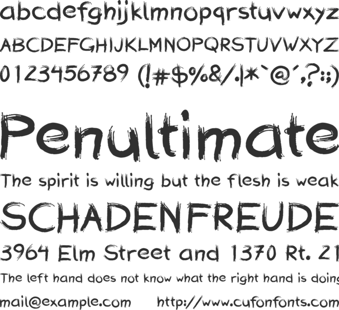 Stiff Brush JK font preview