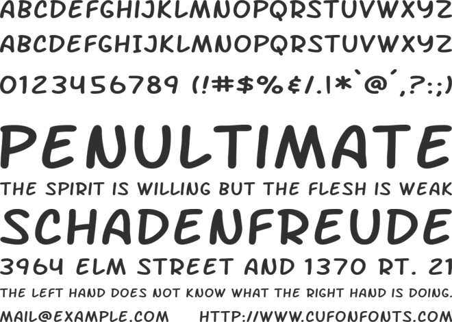 Arch Rival font preview