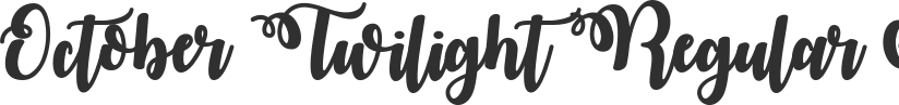 October Twilight font download