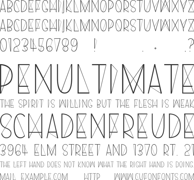 Harry font preview