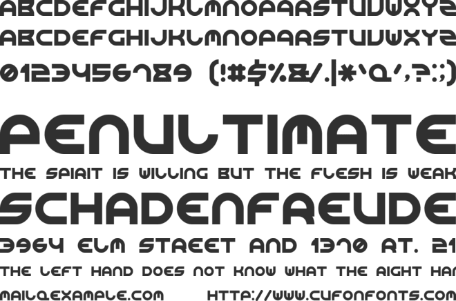 Rounded Line 7 font preview