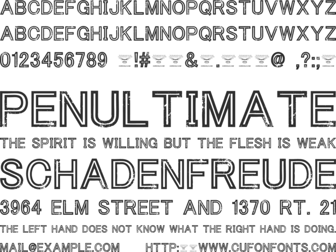 Tha Cool Kidz font preview