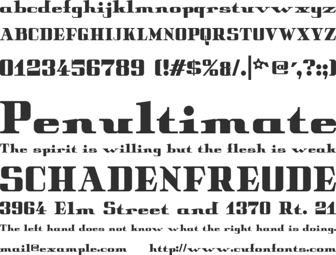 Peter Obscure font preview
