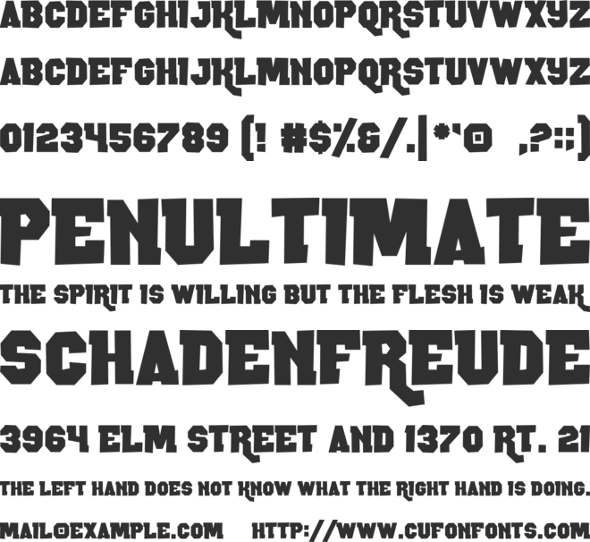 Rocky Road font preview