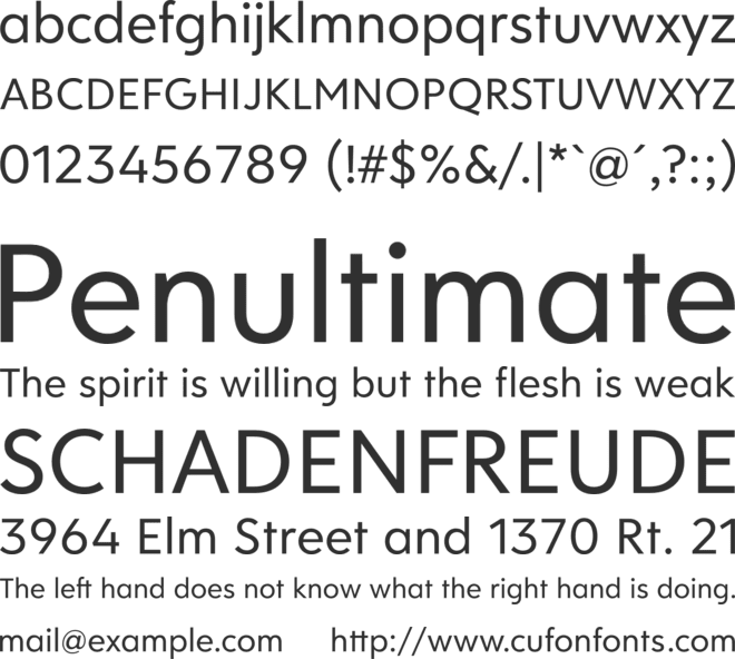 Clarika Geometric font preview