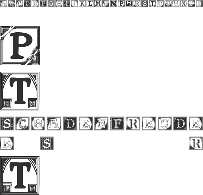 Shrewsbury Initials font preview