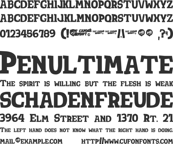 Tot Shrift font preview