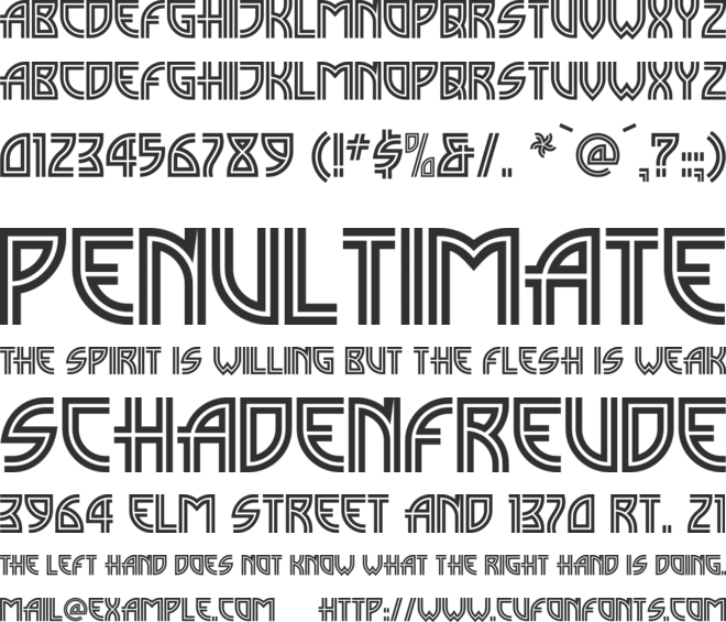 Madison Square NF font preview
