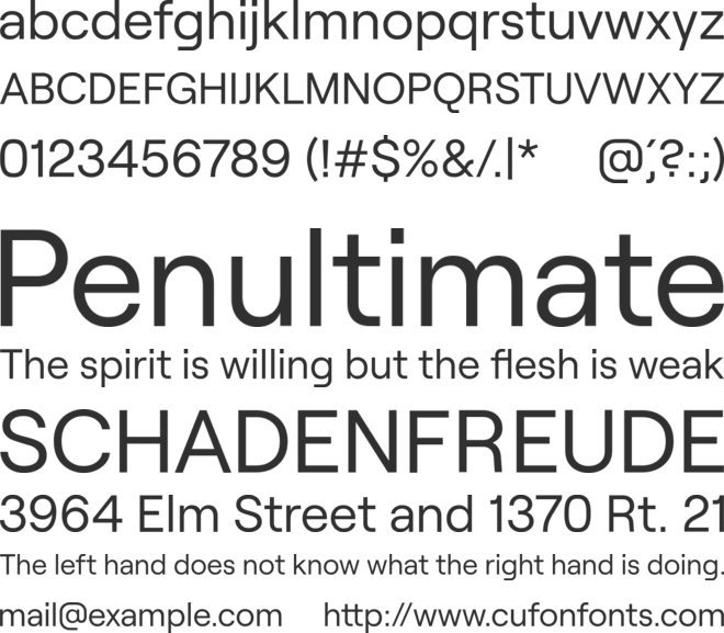 Roobert font preview