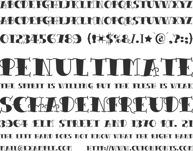 Tattoo Lettering font preview