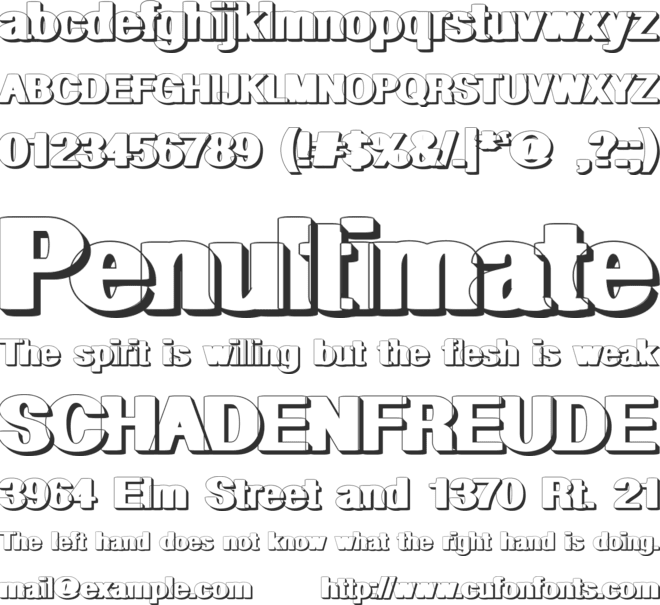 Geometric Shadow PW font preview