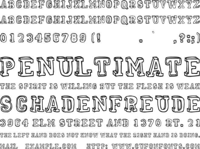 Mental Freak font preview