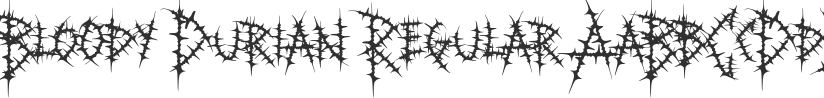 Bloody Durian font download