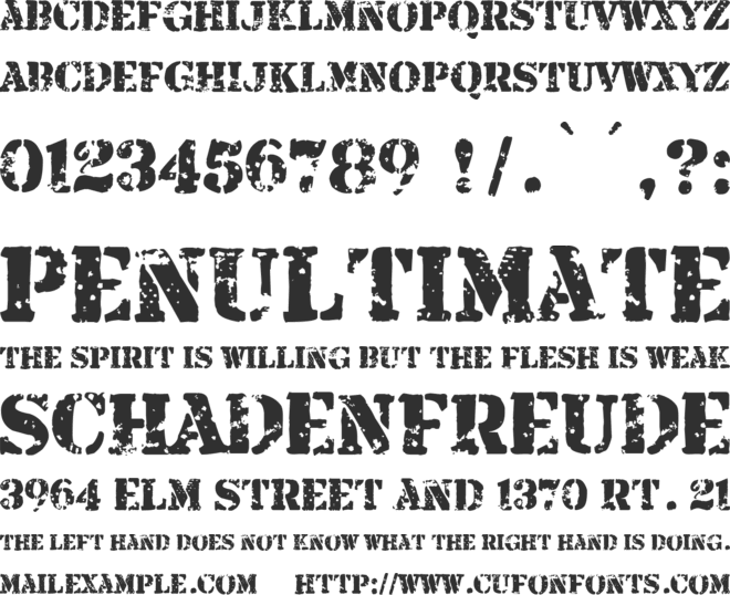 Armalite Rifle font preview