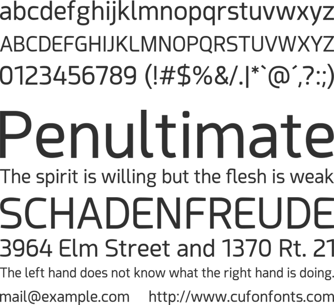 Acephimere font preview
