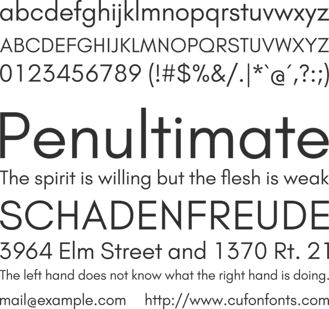 Glacial Indifference font preview