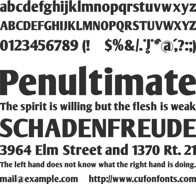 ArmWrestler font preview
