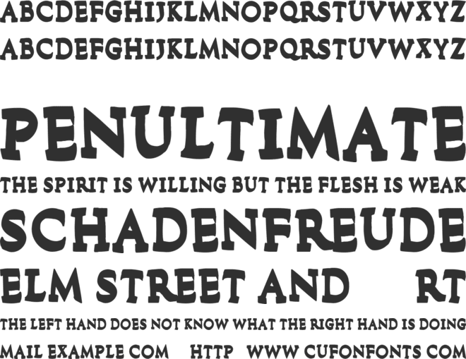 Flood In London font preview