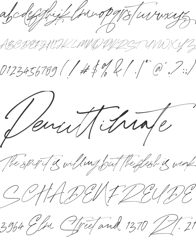 Mabrick Signature font preview