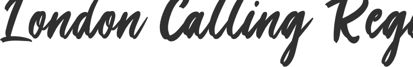 London Calling font download