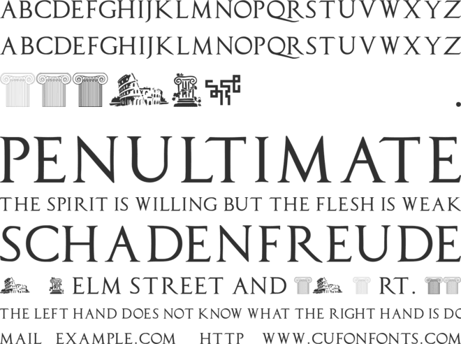 Capitalis TypOasis font preview