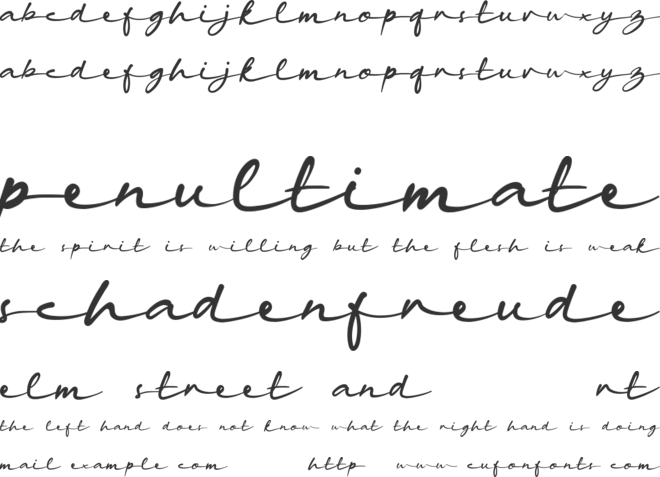 haina font preview