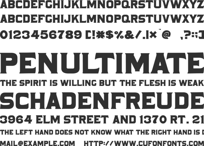 Cabaret Display font preview