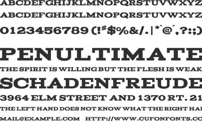 Acknowledgement font preview